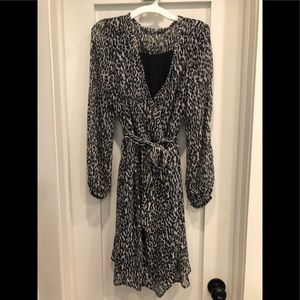Women's black and white leopard print.